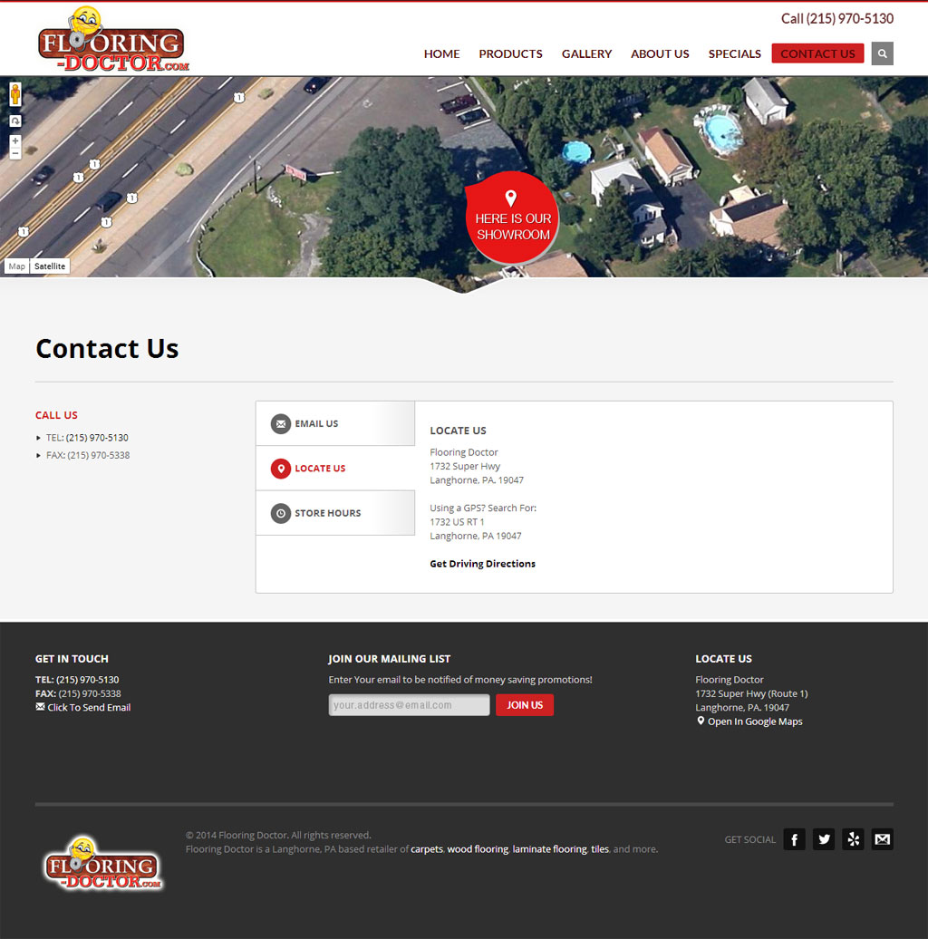Flooring Doctor Contact Page